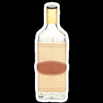 """Стеклянная бутылка """"РОСА"""" 0.5 л, чехол кайман"""