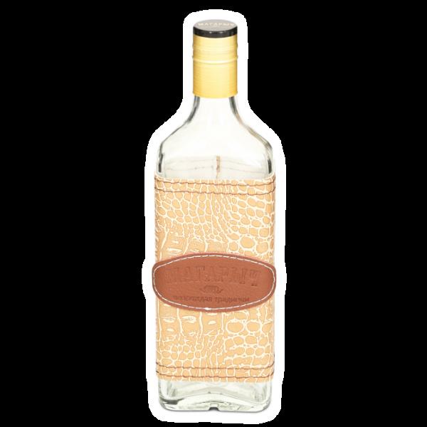 Стеклянная бутылка «РОСА» 0.5 л, чехол кайман