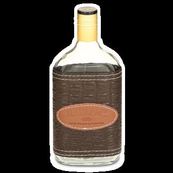 """Стеклянная бутылка """"ВОСК"""" 0.5 л, коричневый чехол"""