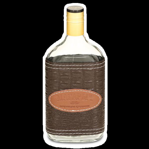 Стеклянная бутылка «ВОСК» 0.5 л, коричневый чехол