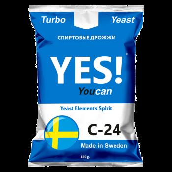 Спиртовые турбо дрожжи YES! YouCan C-24, 180 г