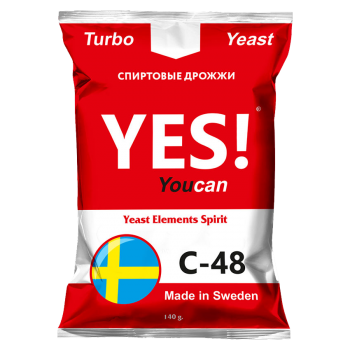 Спиртовые турбо дрожжи YES! YouCan C-48, 140 г